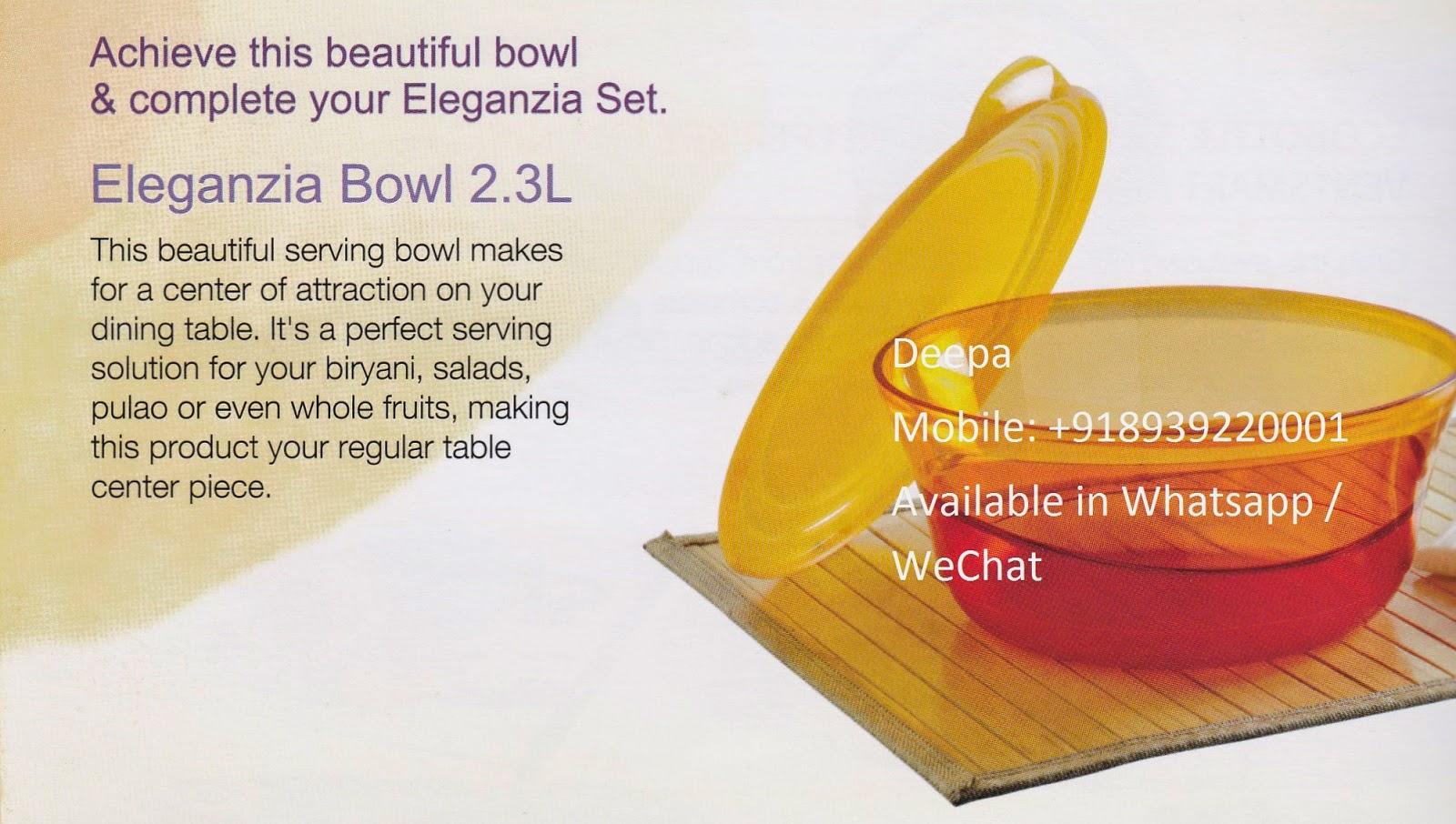 Tupperware India September 2012 Eleganzia Bowl 600ml 4 Set 23ltrs