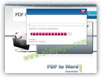 Gambar: Cara melakukan Convert PDF to WORD secara online.  Langkah 2: Menunggu proses Konversi file PDF ke word