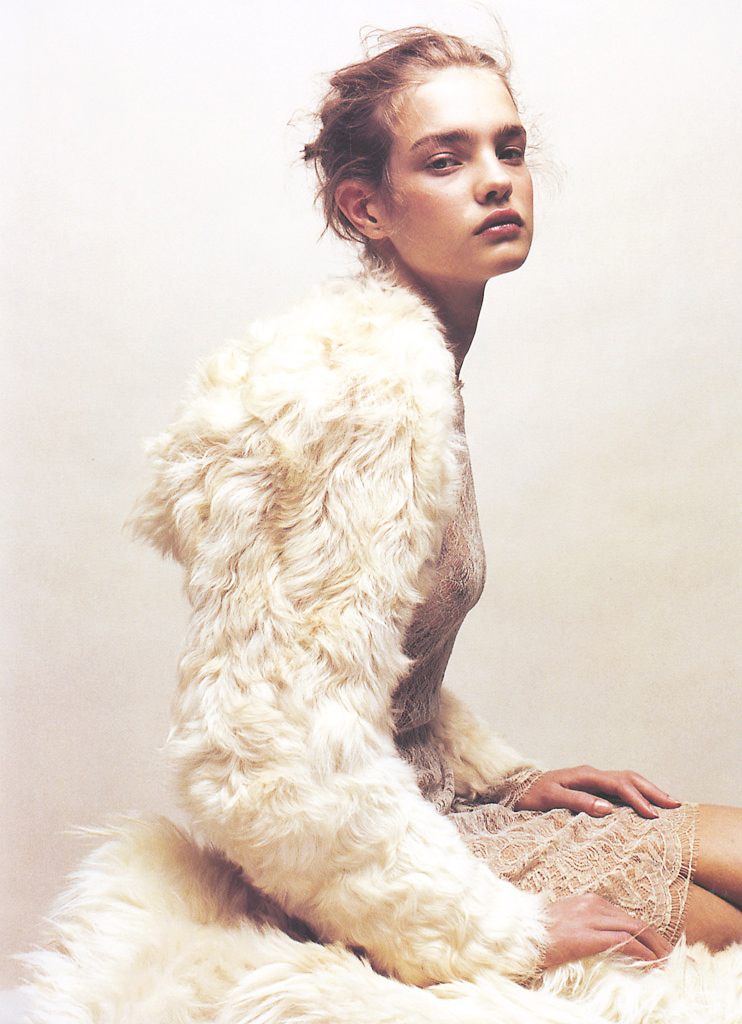 Natalia Vodianova by Jean Baptiste Mondino for Numero #37 October 2002 via www.fashionedbylove.co.uk