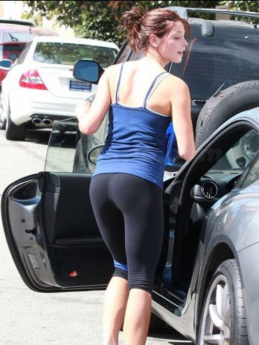 Ashley Greene in yoga pants