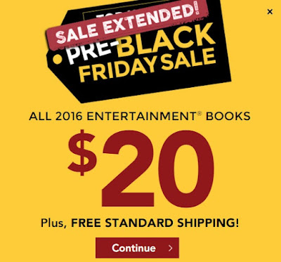 Entertainment Coupon Books Pre-Black Friday Sale $20 + Free Shipping Promo Code