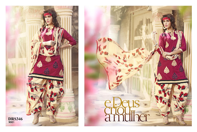 Buy Online Chanderi Cotton Embroidery Dress Material