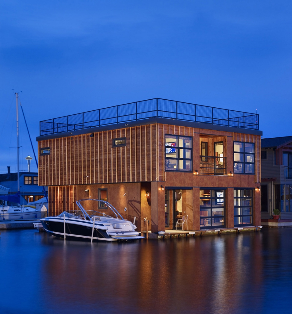 World of Architecture: Floating Homes; Lake Union Float ...