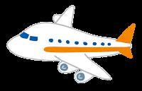 飛行機のイラスト(オレンジ)