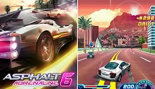 لعبة سباق السيارات المدهشة Asphalt 6 Adrenaline