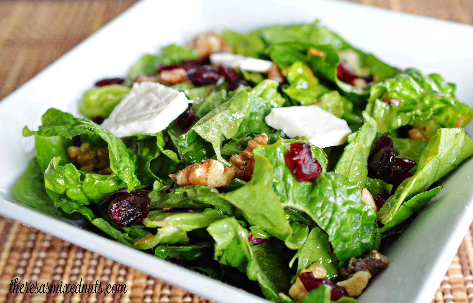 Theresa's Mixed Nuts: Mixed Greens with Brie and Cranberries