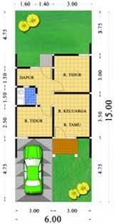 Contoh desain Denah Minimalis Type 36