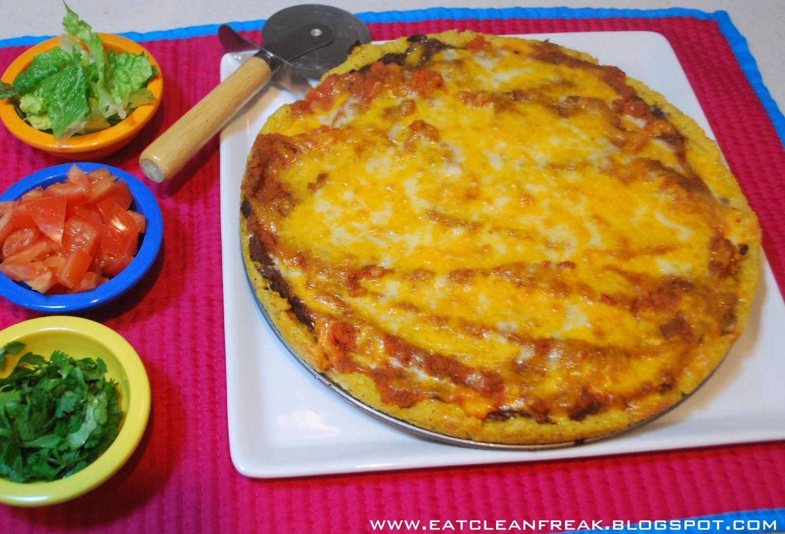 CLEAN FREAK: Gluten Free {clean} Tex-Mex Polenta Pizza