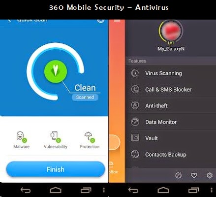 360 Mobile Security –  AntiVirus HP Android Terbaik