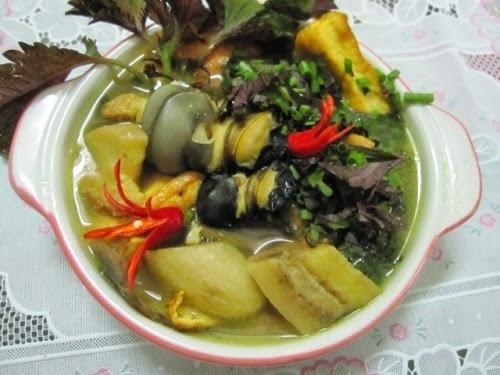 Ốc nấu Chuối Đậu phụ 2