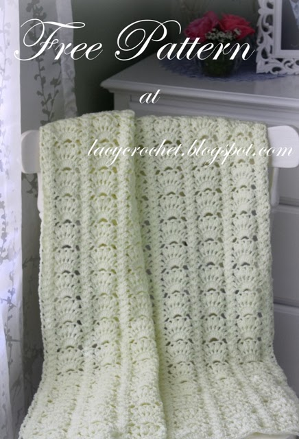 Lacy Crochet Fancy Shells Baby Afghan Free Pattern