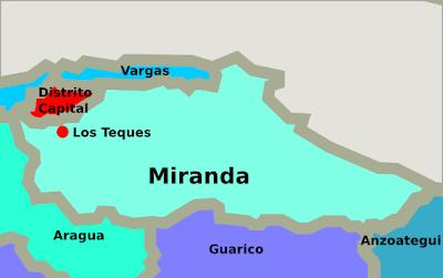 Mapa del estado Miranda Venezuela