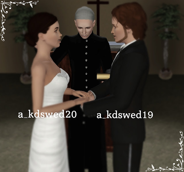 "Wedding Altar Sims 3: My Sims 3 Poses: Wedding Pack 2 ""The Ceremony Part 1"" By Kiddo"
