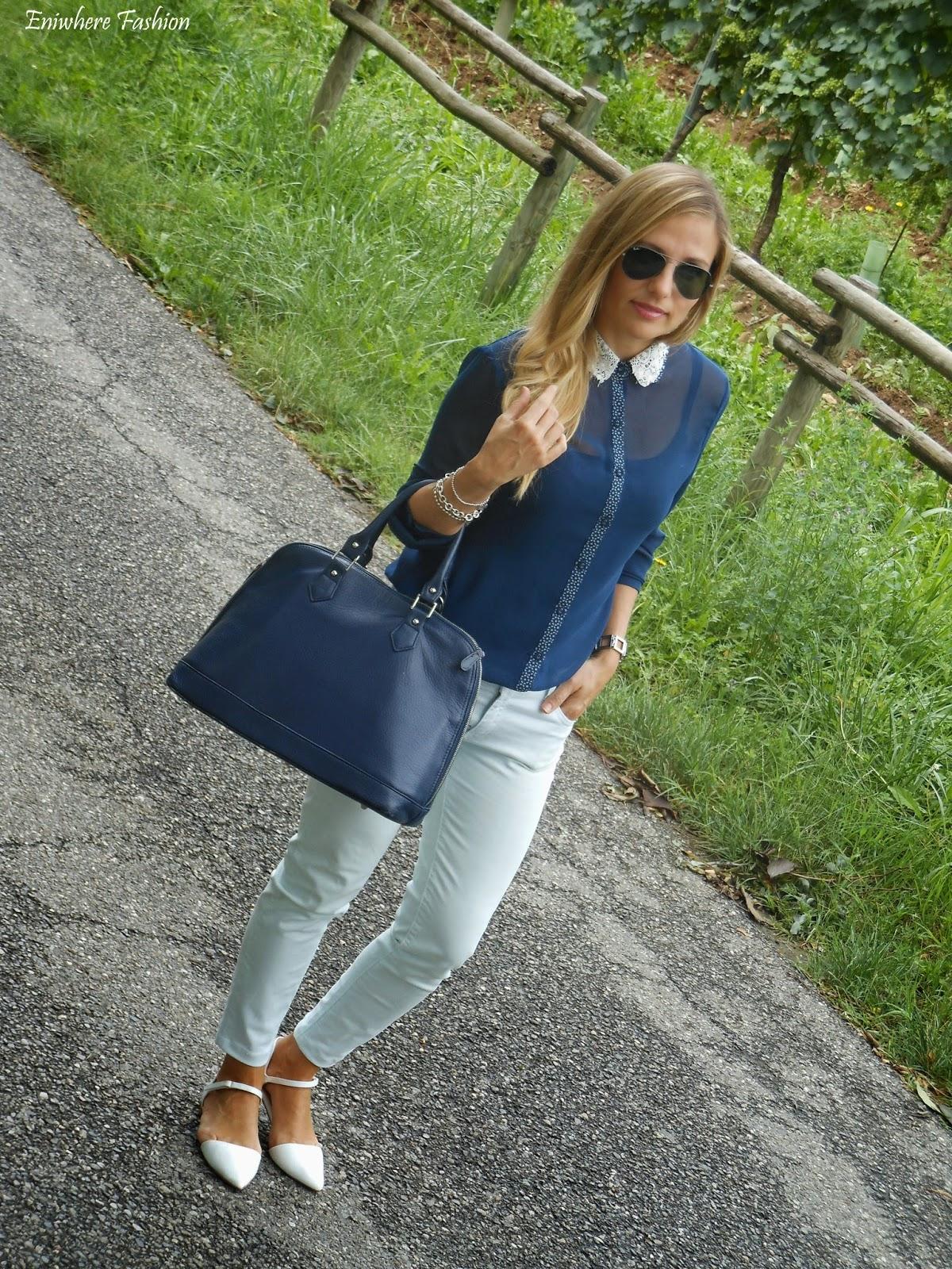 Eniwhere Fashion - Camicia blu notte - Franciacorta