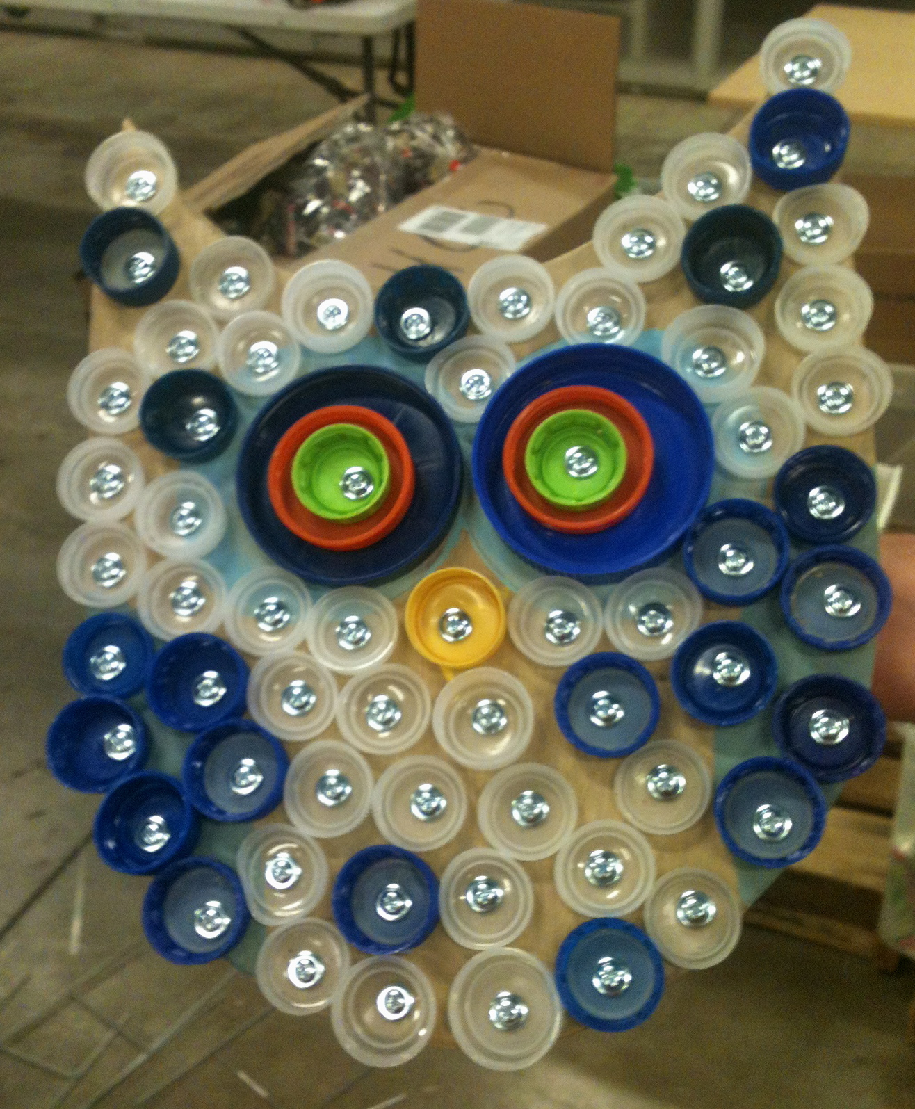 Art design imagination a bottle cap art workshop at a gift for teaching - Plastic bottles recycling ideas boundless imagination ...