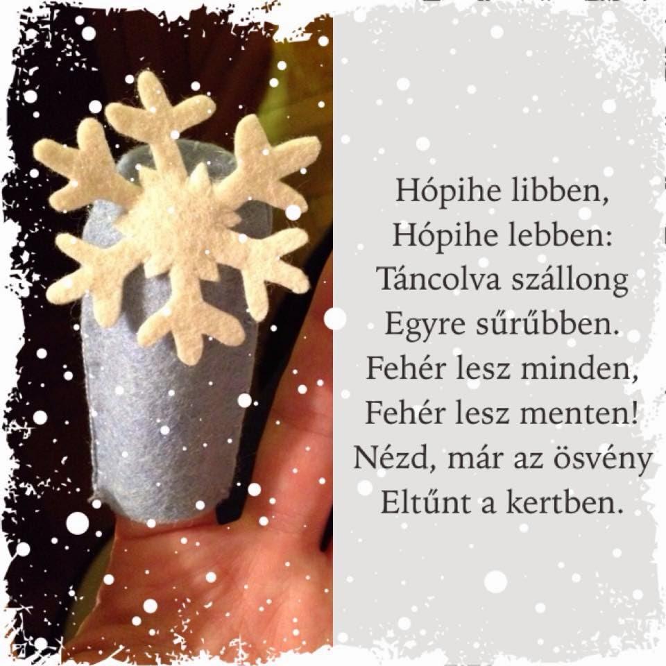 hópehely, hópihe ujjbáb filcből
