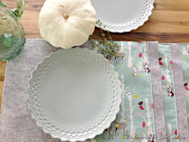 Tischsets Wollfilz Frühstück bei Emma Oktoberprojekt