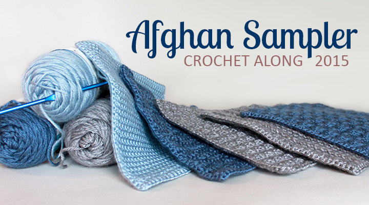Solid Scallop: Square 5 (May) of the 2015 Afghan Sampler -- Crochet along and have a finished blanket at the end of the year!   The Inspired Wren