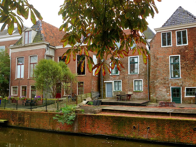 Picture of medieval houses in Appingedam, Groningen.