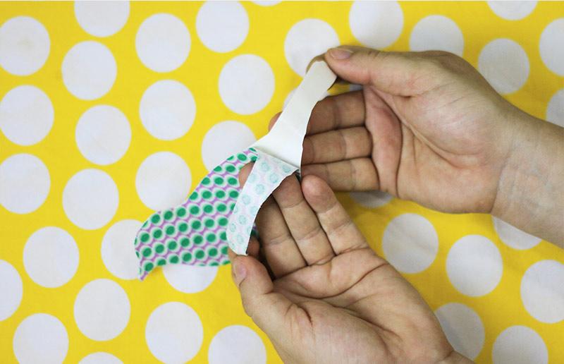 Faça-você-mesma: tutorial para adesivo de parede de tecido - passo 4