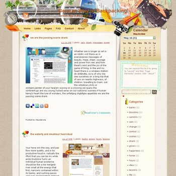 German Way of Backpacking template blog from wordpress. travel blog template. template blog from wordpress. travel blog template