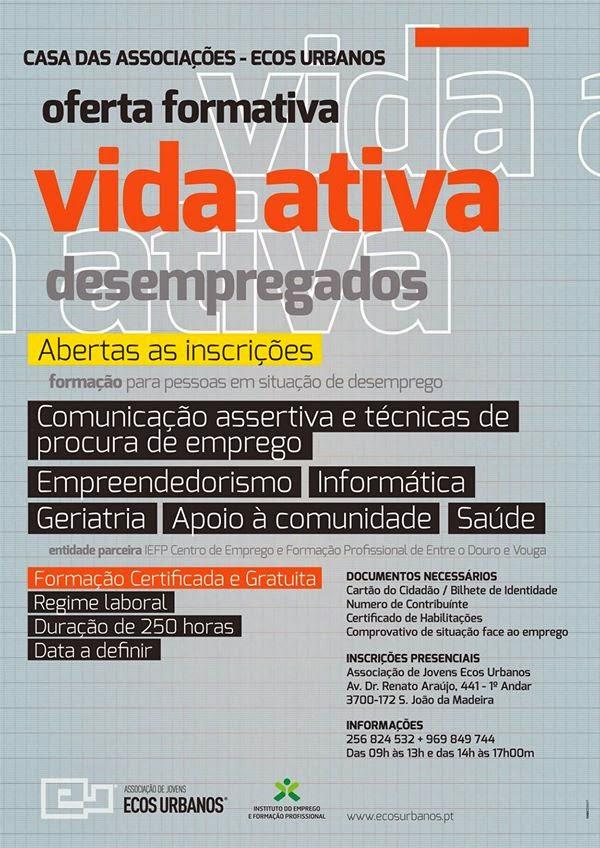 Cursos gratuitos para desempregados em São João da Madeira