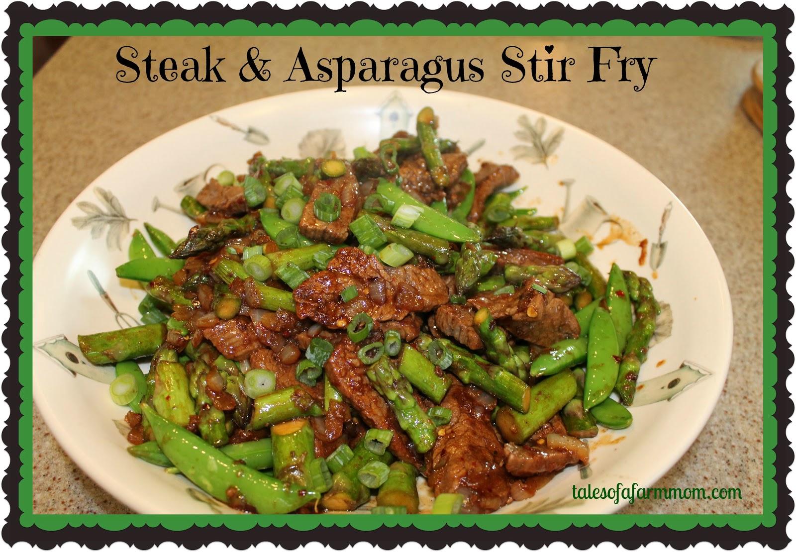 Tales of A Farm Mom: Steak & Asparagus Stir Fry