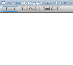 Simple example of JavaFX ToolBar