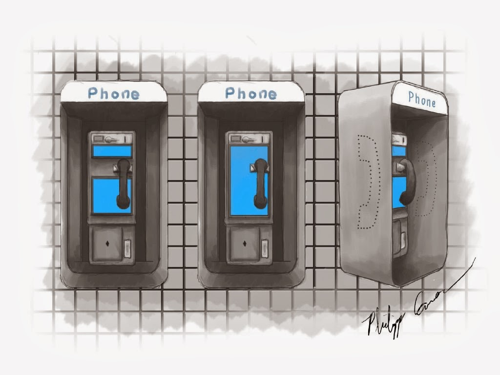 Concept art future pay phone