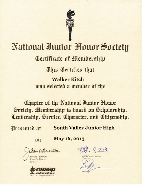 national junior honor society application
