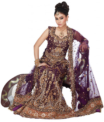 Beautifull and latest mehndi design dresses design for gilrs 2012 - Pakistani Bridal Lehenga And Dupata Style Collection