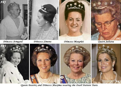 Ladies who wore the Pearl Button Tiara in its original form
