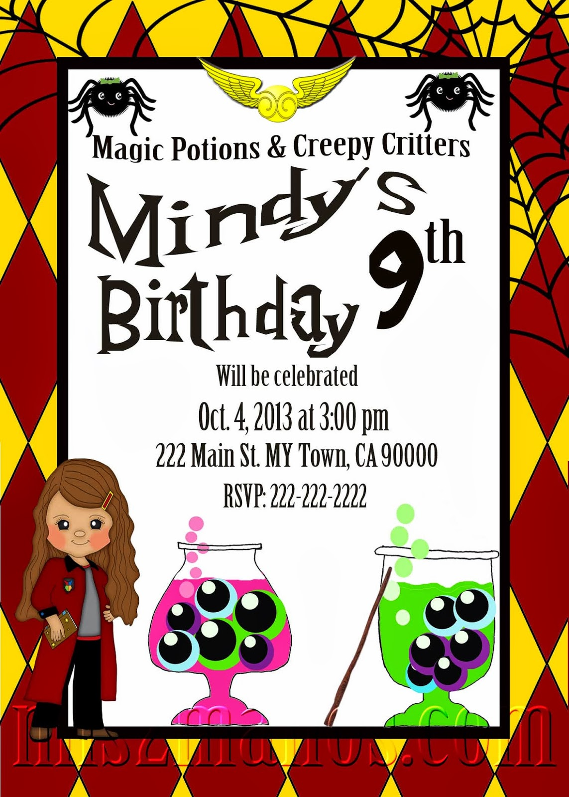 Mis 2 Manos: Made by My Hands: School of Wizardry Birthday Party ...