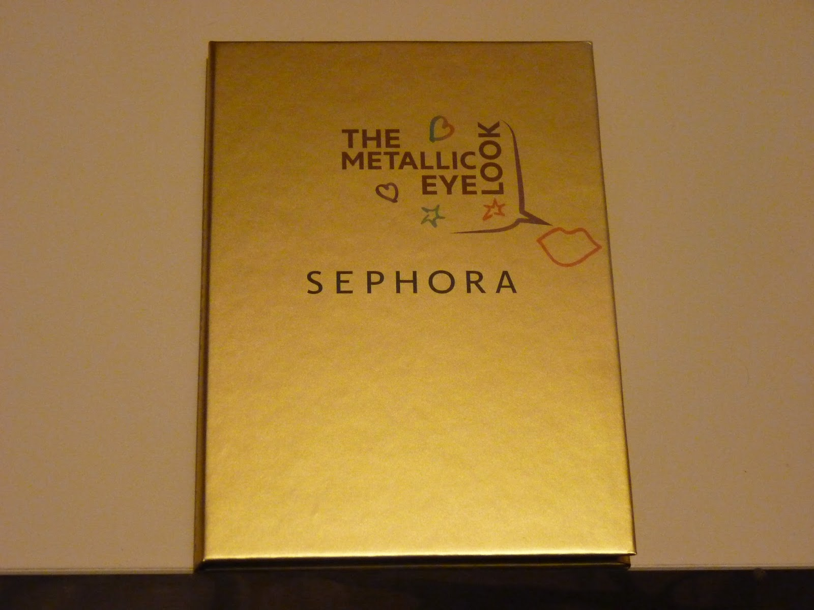 metalic, sephora, 4 eye look book, doré