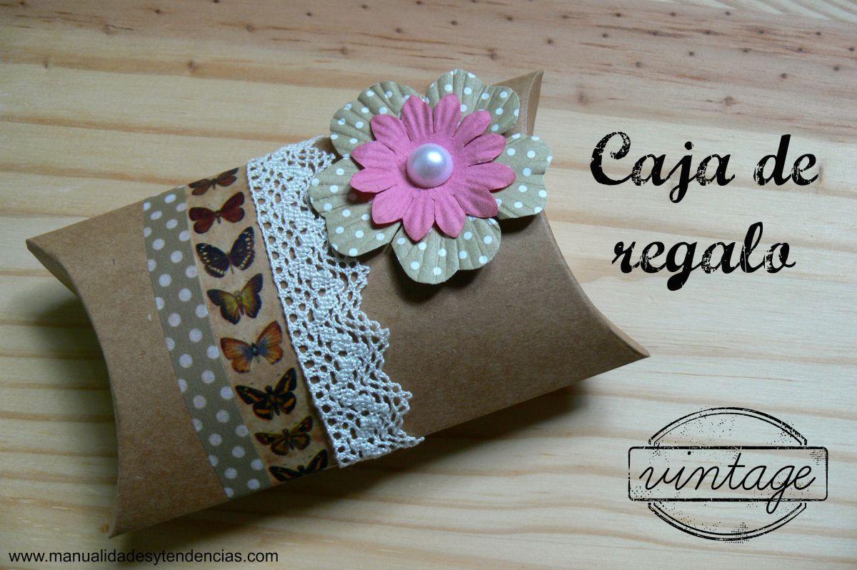 Manualidades y tendencias caja de regalo vintage vintage gift packaging - Manualidades regalo boda ...