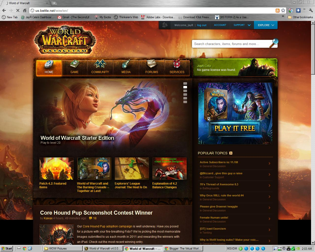 Blizzard Account - us.battle.net