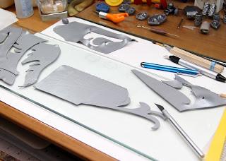 Lord Elrond hip armor polymer clay trim.