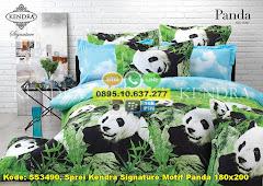 Harga Sprei Kendra Signature Motif Panda 180×200 Jual