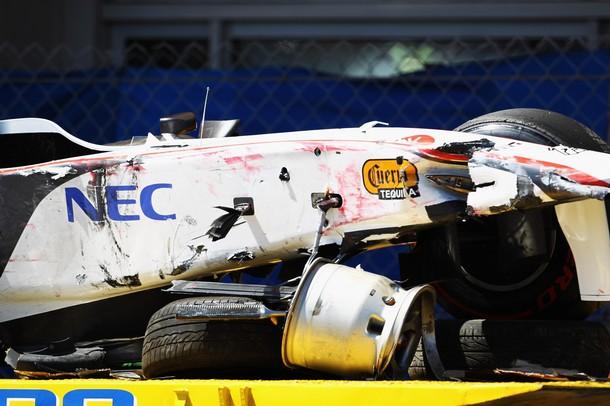 monaco grand prix 2011 crash. Photos - Perez heavy crash at