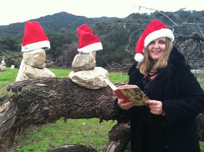 Maja Trochimczyk reads poetry in Il Bandito Park, December 15, 2012