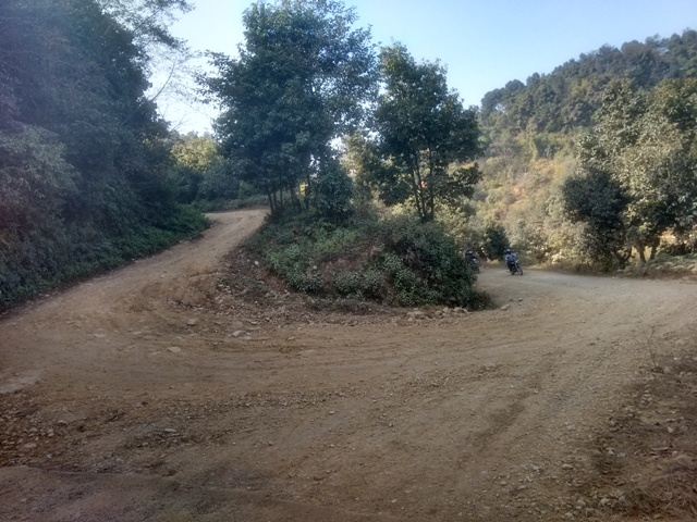 cycling to switzerland park, kathmandu valley