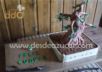 tarta, tarta fondant, bonsai, tarta bonsai, composicion bonsai, RKT, tarta fondant Sevilla