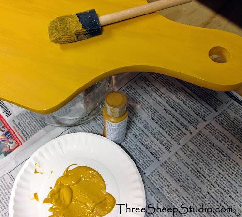 Aging A Bread Board - ThreeSheepStudio.com