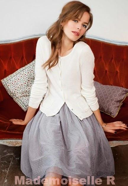 mademoiselle r falda tul gris