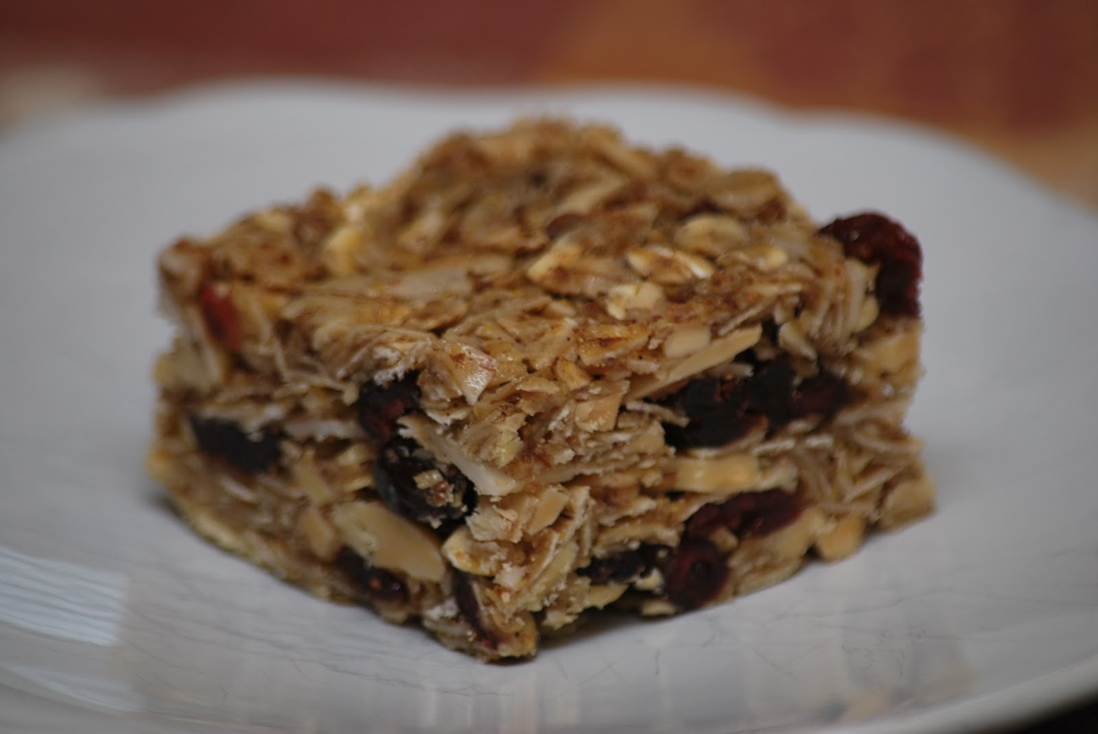My story in recipes: Cherry Almond Granola Bars