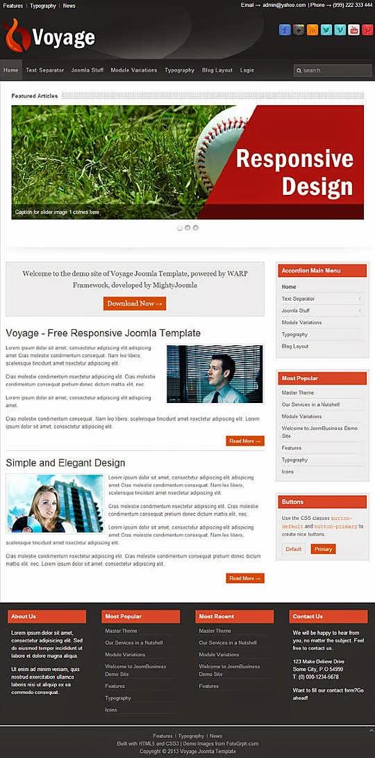Voyage - Free Joomla! Template