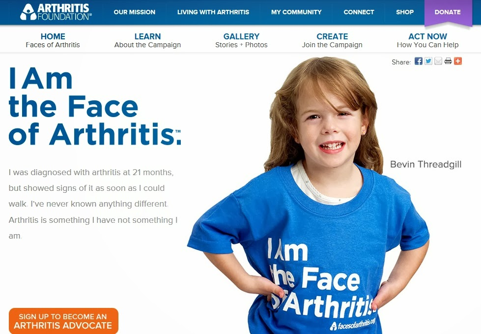 I am the face of Arthritis