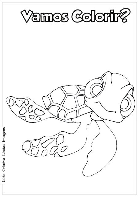 Procurando o Nemo Squirt desenho pra colorir