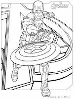 Mewarnai Gambar Kapten Amerika The Avenger