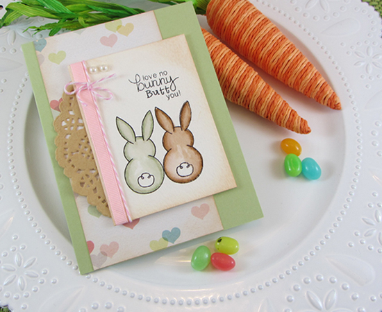 Card by Jennifer Jackson using Bunny Hop Stamp set by Newton's Nook Designs